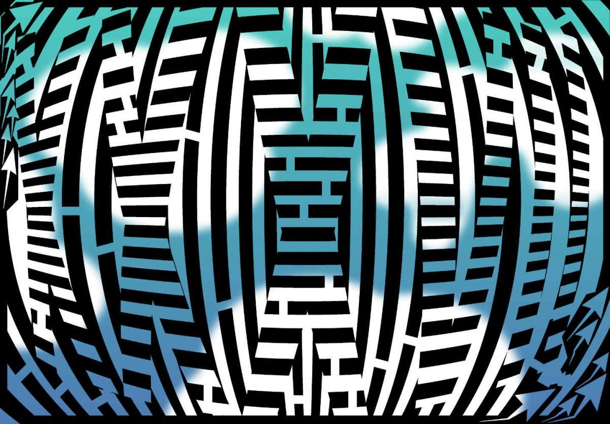 Maze Artwork Of The Roman Numerals For 37