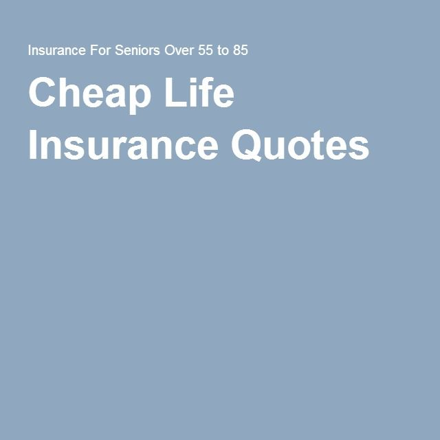 Cheap Life Insurance Quote Classy Cheap Life Insurance Quotes  Complete Guide To Life Insurance