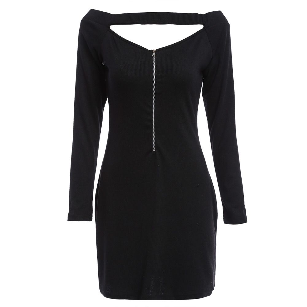 Off the shoulder long sleeve mini dress for ladies dresses at rios
