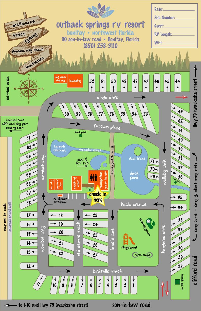 Rv Resort Map In 2020 Map Rv Life Resort