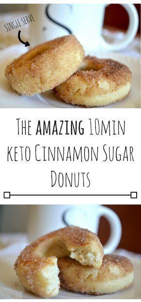 The AMAZING 10min Keto Cinnamon Sugar Donuts #ketodesserts