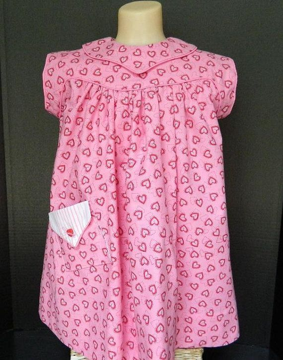 Handmade Children's Clothing  Pink Toddler Dress  by lynnedowns