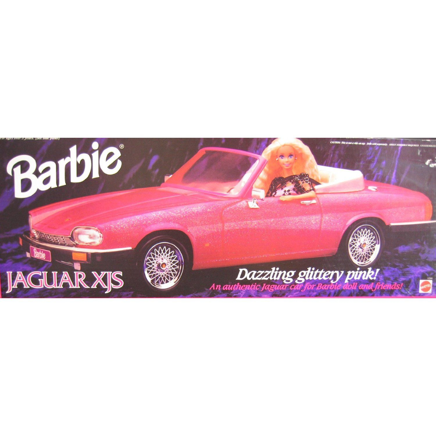 barbie jaguar xjs convertible vehicle dazzling glittery pink car 1994 items i would love. Black Bedroom Furniture Sets. Home Design Ideas