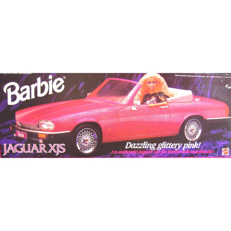 barbie jaguar xjs convertible vehicle dazzling glittery pink car 1994 barbie barbie car barbie playsets barbie jaguar xjs convertible vehicle