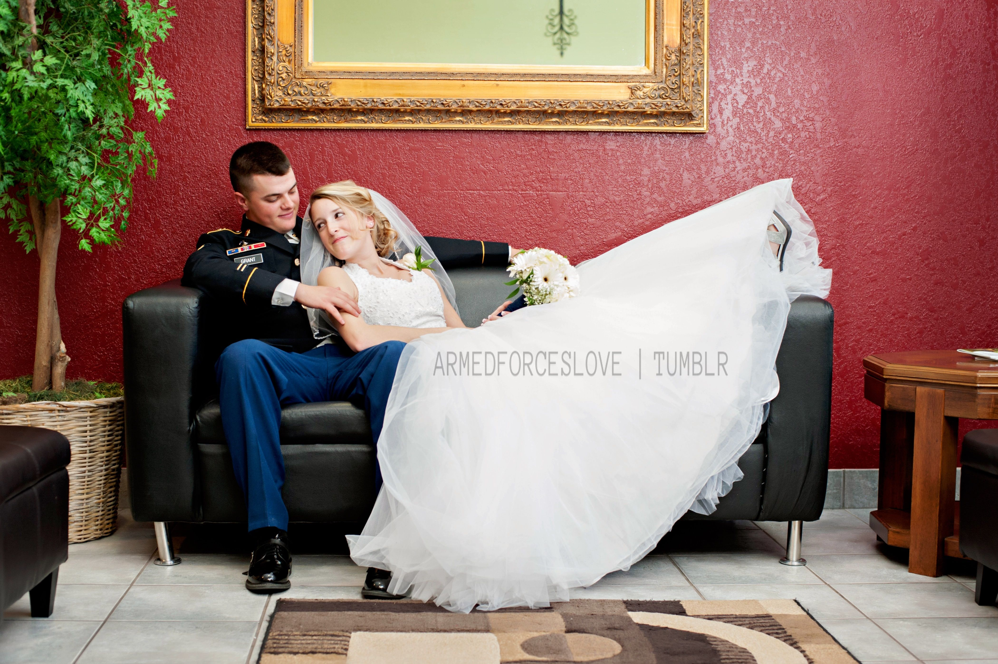 Military/Army Wedding. My Husband And I After Our Ceremony