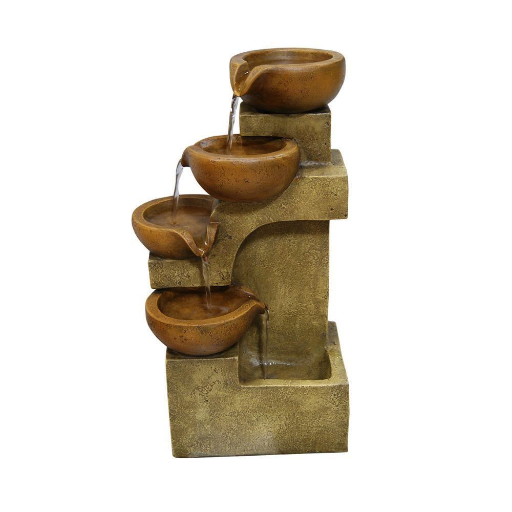 Accent Any Table With This Rustic Tabletop Fountain. Let The Water Flow  From One Pot