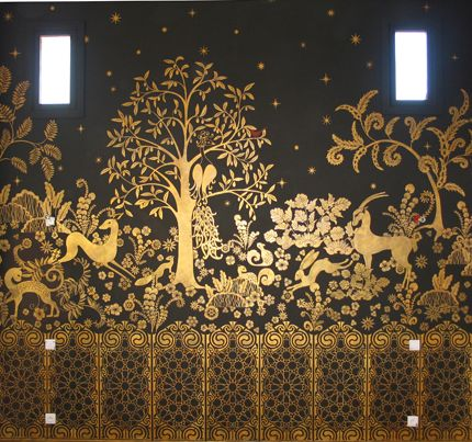 very cool art deco stencil on a wall paint and trim wall mural moroccan tile pattern africa pixersize com