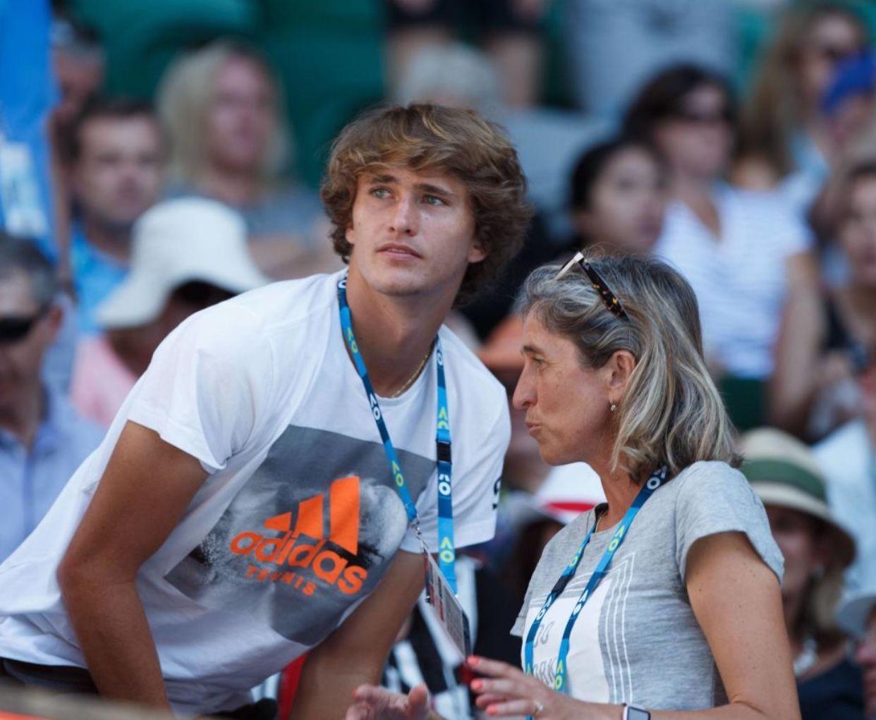 Mother Son Alexander Zverev Tennis Champion Tennis Players
