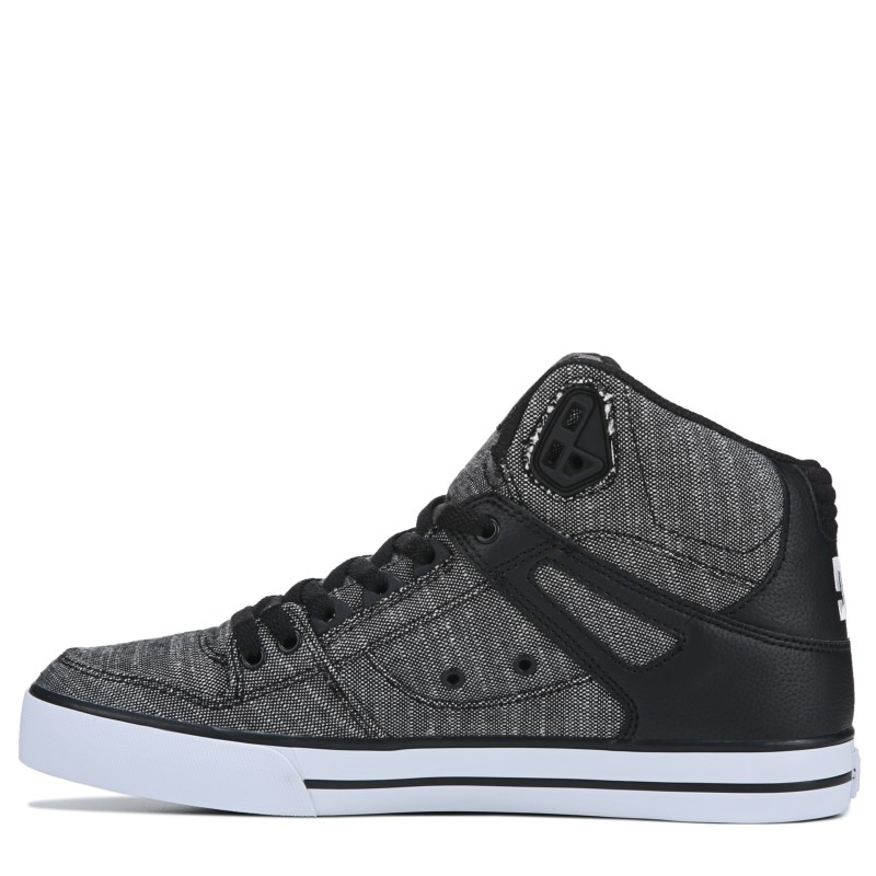 9d79186a12 DC Shoes Men s Pure High Top WC TX SE Skate Shoes (Black Grey White ...