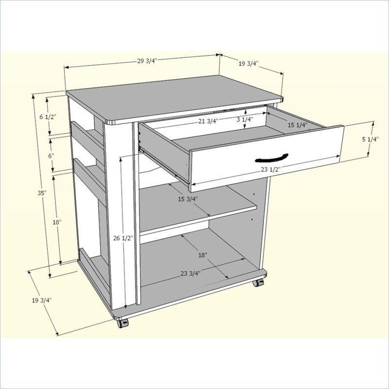 Nexera 2 Door Mobile Microwave Cart: Microwave Cart In Natural Maple
