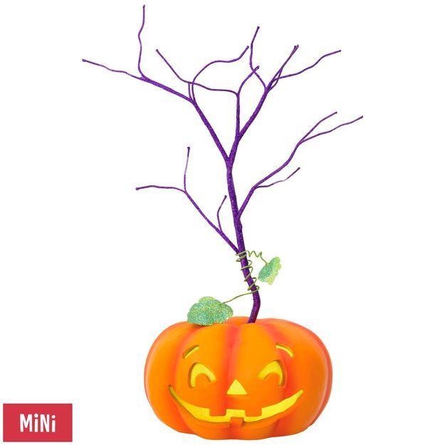 Halloween Miniature Keepsake Ornament Tree With Light