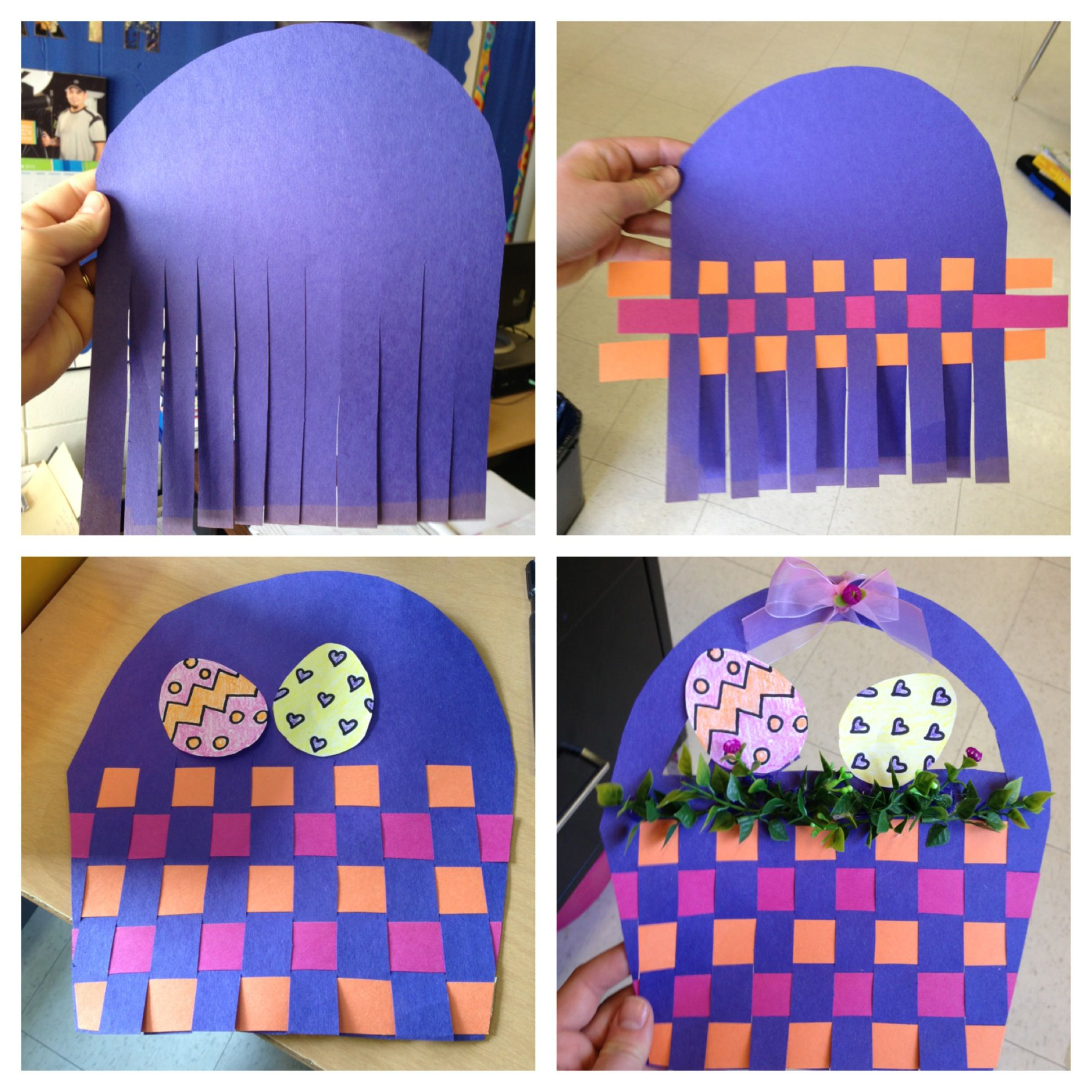 Easter Basket Art Project School Pinterest