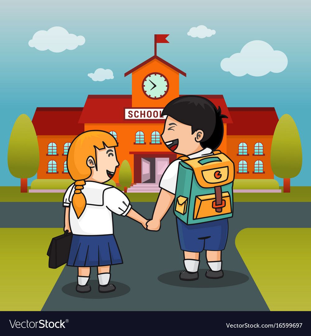 Children back to school background vector image on