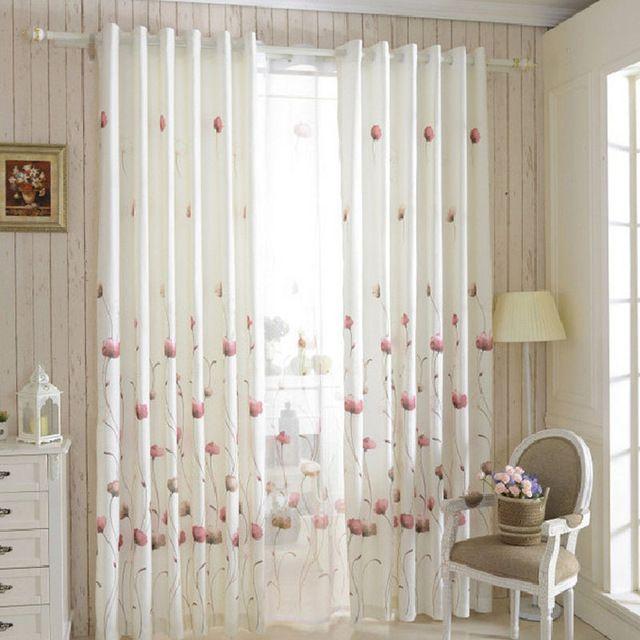 Organza cortinas cortinas de la cocina cocina cortina de for Cortinas blancas dormitorio