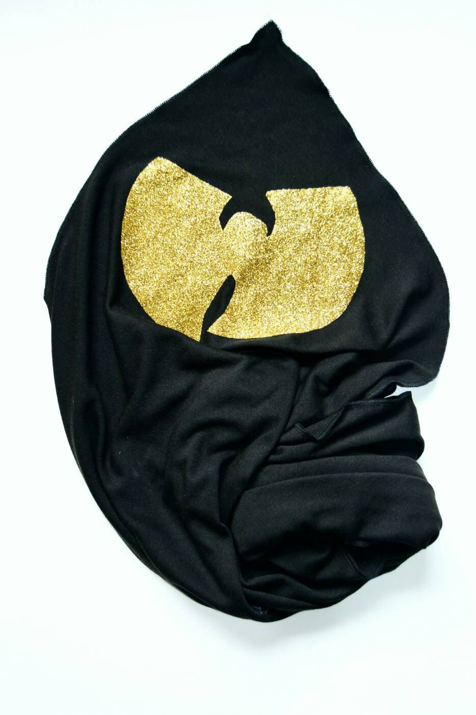 Black With Gold Wutang Baby Swaddle Blanket by blossomandbloom.bigcartel.com 10aa0997e35
