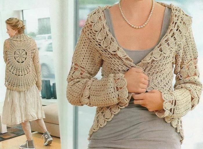 Crochet Sweater: Crochet Cardigan For Women - Circular Cardigan ...