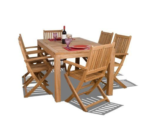 Amazonia Teak Budapest 7-Piece Teak Rectangular Dining Set by Amazonia Teak. $1596.32. 1 rectangular table 35w x 63d x 29h 6 folding armchairs 20w x 18d x 35h. Some assembly required. Free feron's wood sealer/preservative for longest durability. Penetrating oil that works great against the effects of air pollution salt air, and mildew growth. For best protection, perform this maintenance every season or as often as desired. Color: light brown. 7 individual pieces. Great ...