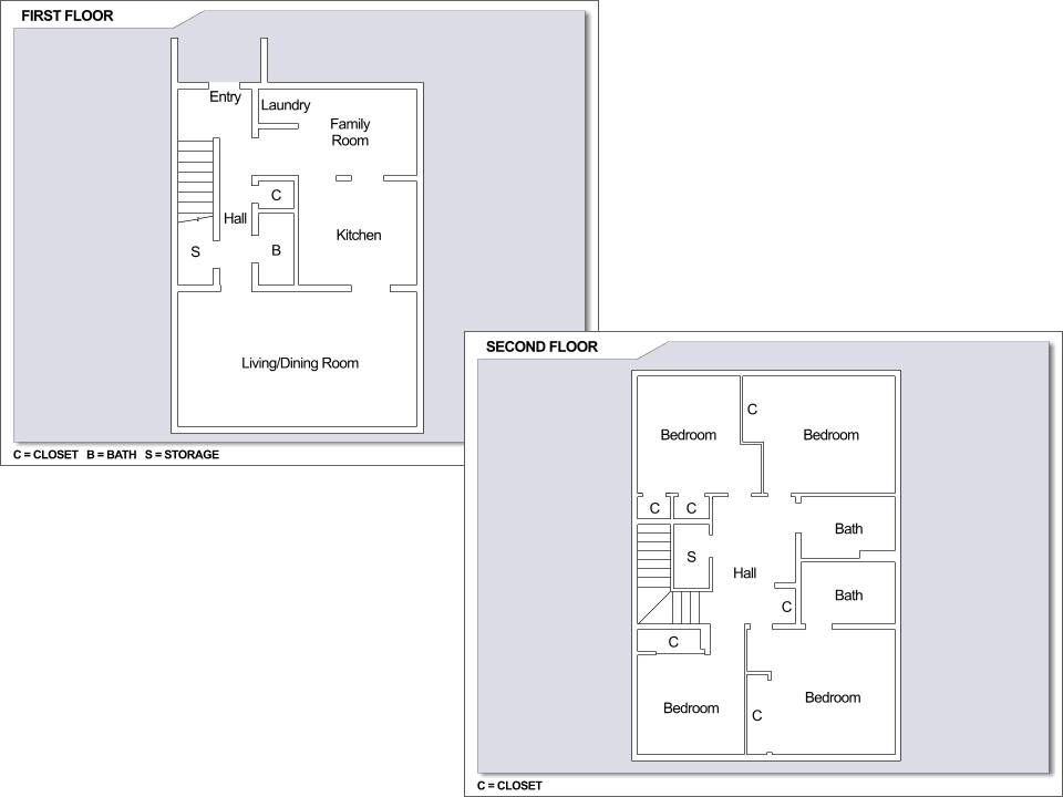 CFA Yokosuka – Ikego Townhouses: 4 bedroom townhome floor