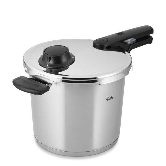 "http://www.williams-sonoma.com/products/fissler-vitavit-pressure-cooker/?   Fissler Vitavit Comfort Pressure Cooker   4-qt. cap., 10"" diam.  Fissler Vitavit Comfort Pressure Cooker    $280"