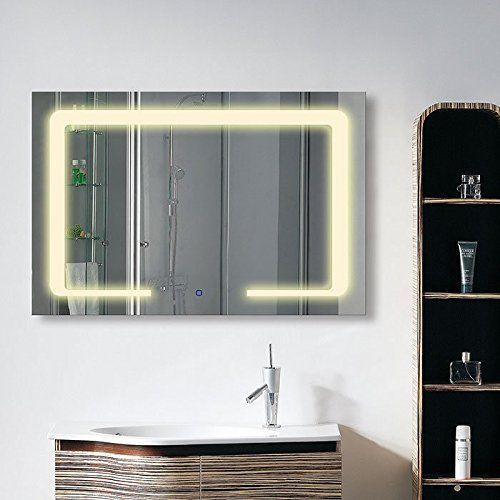 36 x 28 In Horizontal LED Bathroom Silvered Mirror with Touch Button ‹¬?C-CL129‹¬? >>> See this great product.
