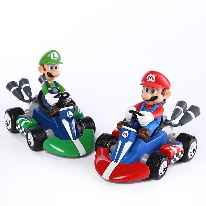 Super Mario Bros Kart Car Mario Luigi Kart Racing Car Pvc Toys 4 10cm Nintendo Doesnotapply Super Feelspecial Loveittobi Mario Mario Kart Super Mario Kart