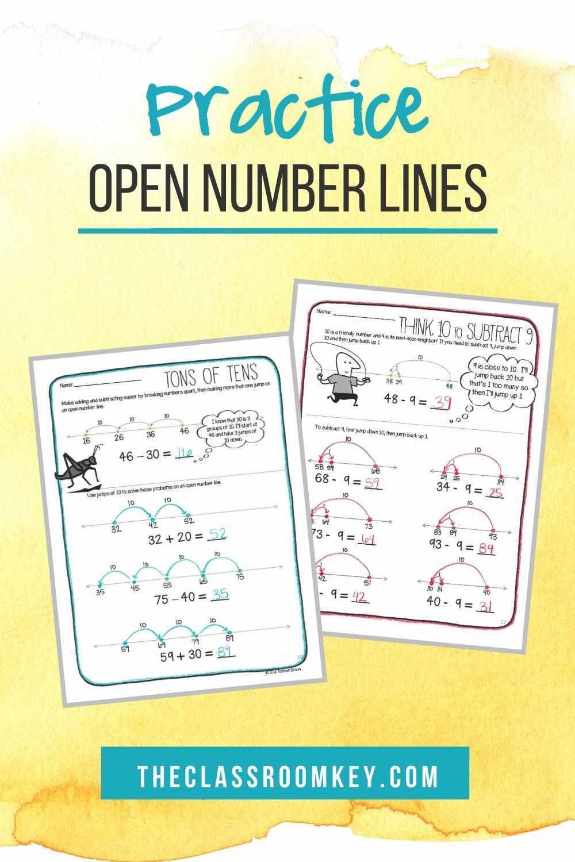 Open Number Lines Number Line Open Number Line Subtraction Addition and subtraction on open number
