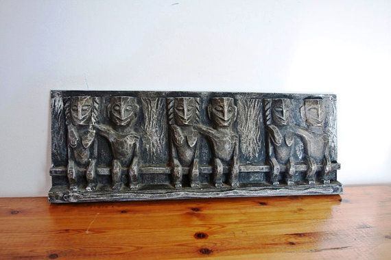 Metal Wall Sculpture Pewter Plaque Wall Art by CozyTraditions ...