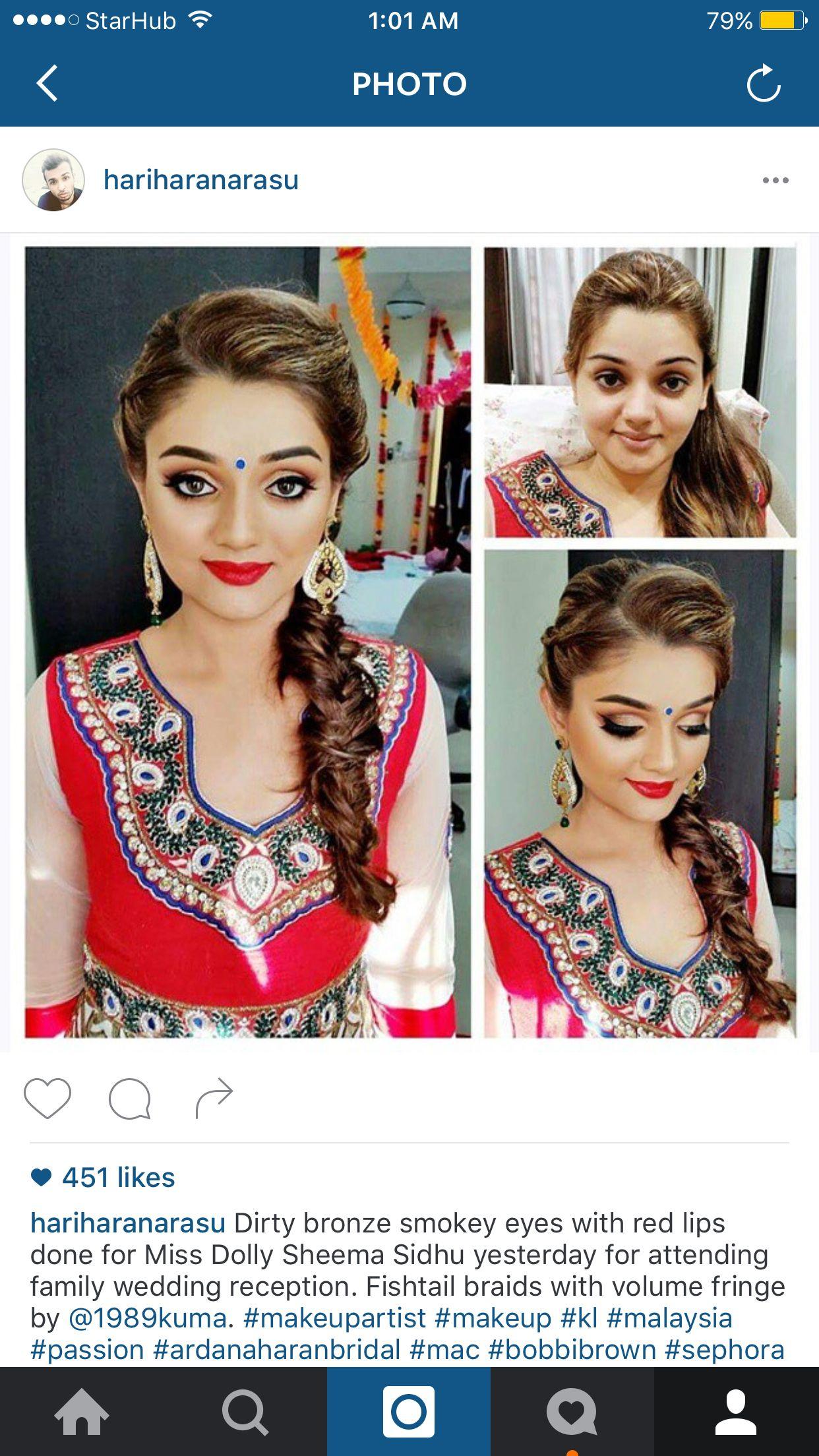 Really good makeup by Malaysian artist Indian Makeup, Bridal Makeup, Best Makeup Products,
