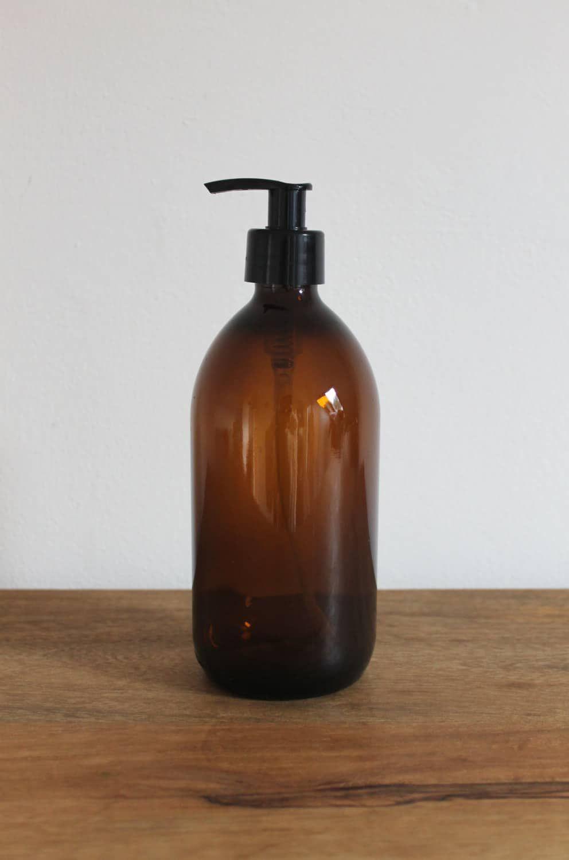 c39d58458343 Soap Dispenser Pump | Mummy bathroom final | Amber glass bottles ...