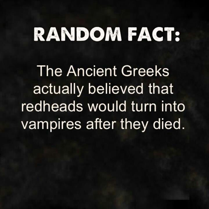 Redheads vampires YEEESSS!!!! Just as its not the obnoxious sparkly kind!!!