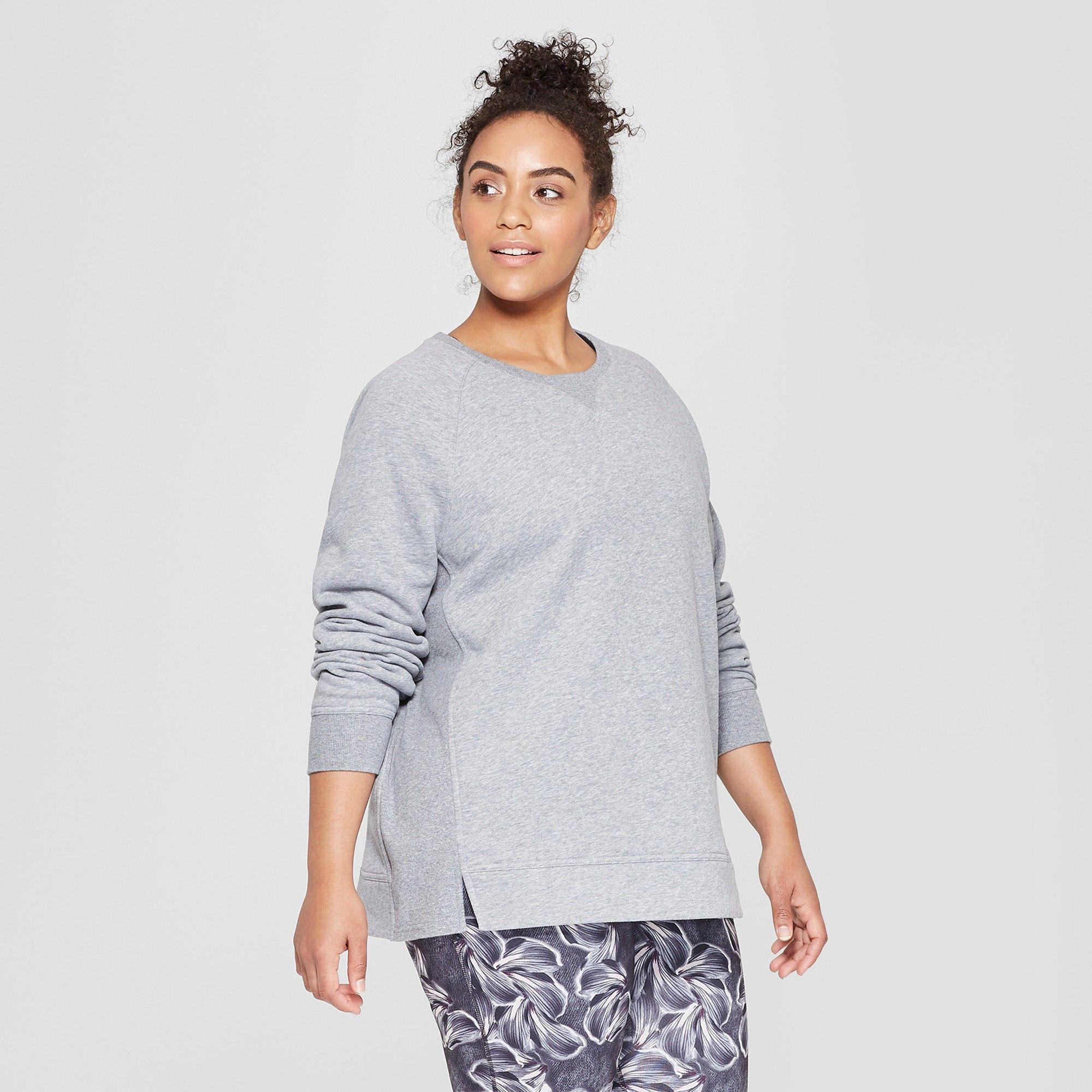 206e18caa54d3 Women s Plus Size Authentic Fleece Sweatshirt - C9 Champion Heather Grey 2X