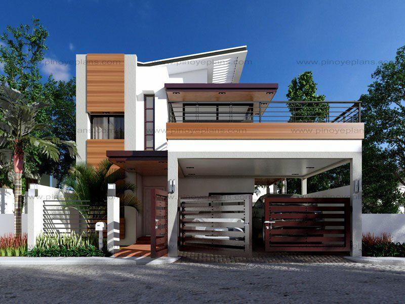 PLAN DESCRIPTION Modern house design MHD 2014012 is