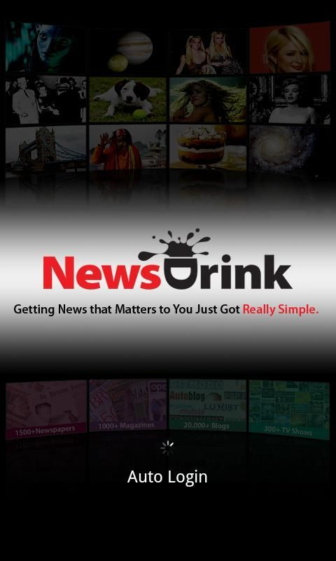 Note the NewsDrink Android app lets you read your