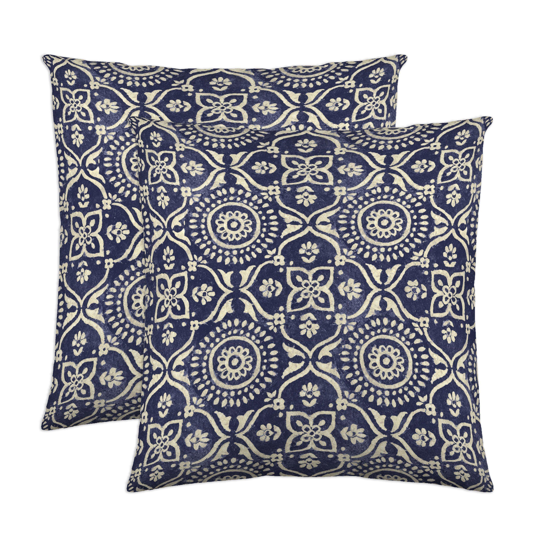 Adara decorative pillow pair ink cotton pillows