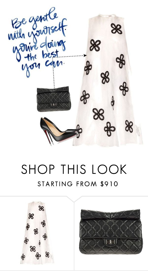 """Fall in love with this dress as soon as I saw this"" by hordalinich on Polyvore featuring Jupe By Jackie, Chanel, Christian Louboutin, women's clothing, women's fashion, women, female, woman, misses and juniors"