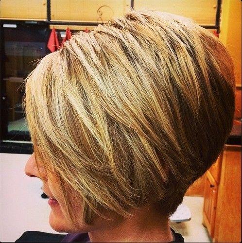 Short Layered Inverted Bob Hairstyles Hair Styles Thick Hair Styles Short Stacked Bob Hairstyles
