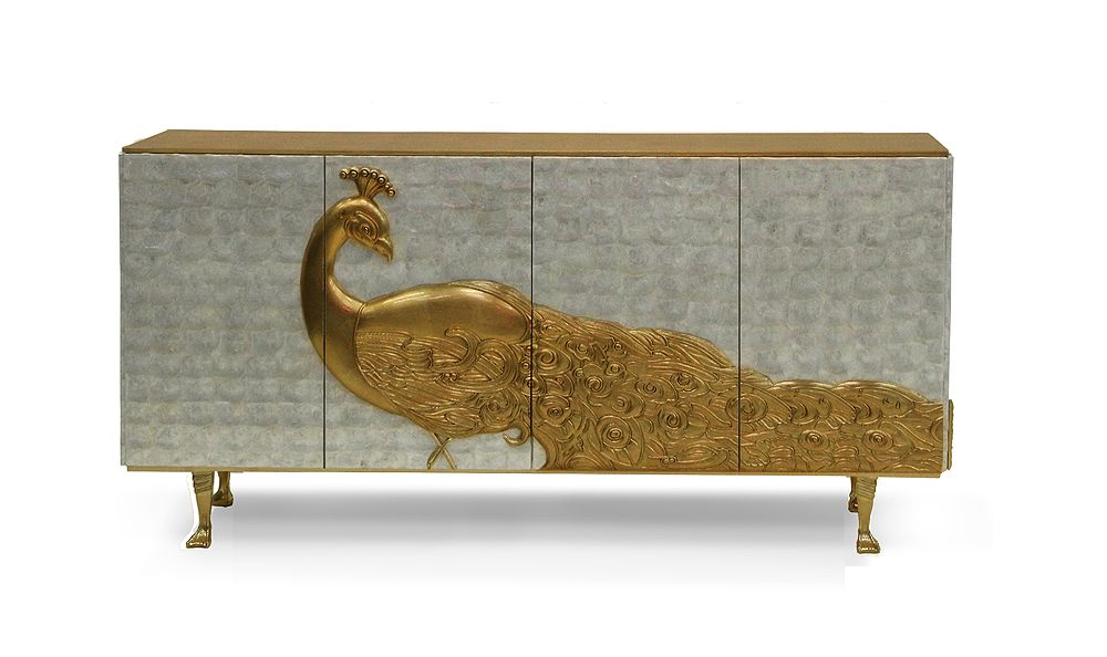 Credenza La Gi : For my gi artisan hand carved peacock credenza by none other than