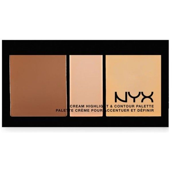 Nyx Professional Makeup  Cream Highlight And Contour Palette (€13) ❤ liked on Polyvore featuring beauty products, makeup, face makeup, beauty, contour, filler, makeup and beauty, medium, palette makeup and nyx