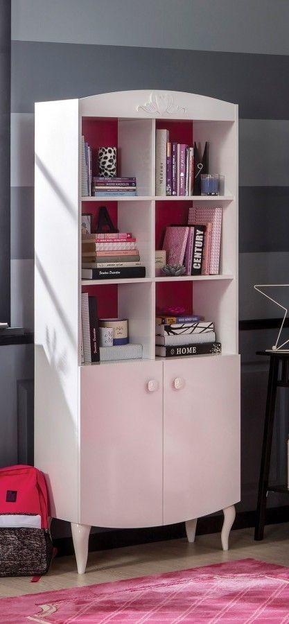 Sweety boekenkast, meidenkast, kinderkast, meidenkamer, inspiratie ...
