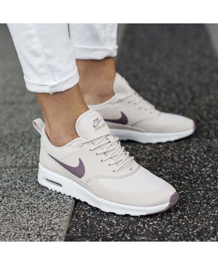 the latest a7910 25a15 Nike Air Max Thea Beige White Trainer