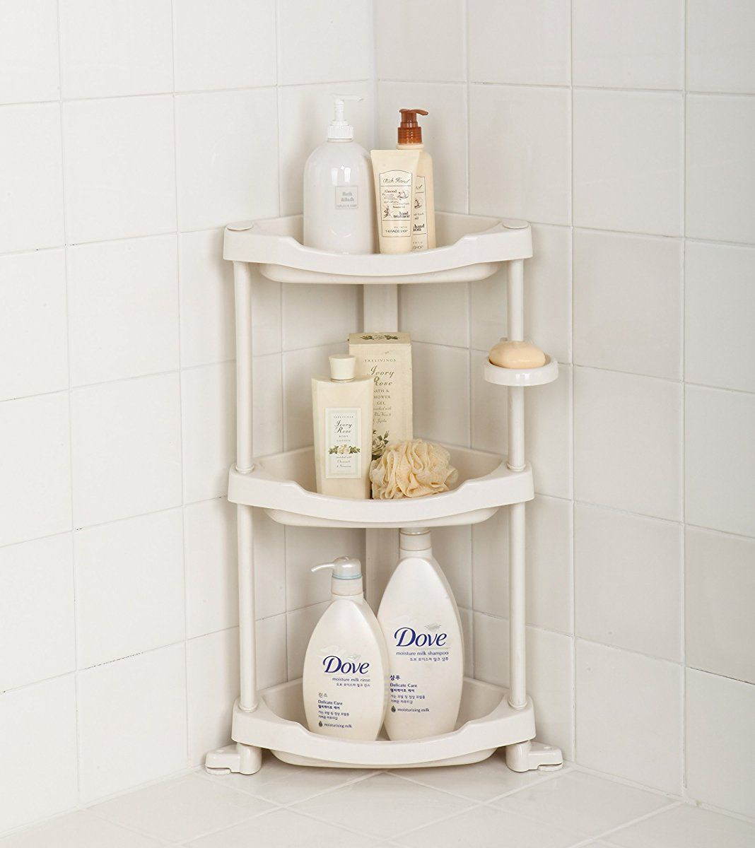 Tenby Living Corner Shower Caddy 3 Shelf Shower Organizer Caddie With Movab Corner Shower Caddy Shower Organization Corner Shower