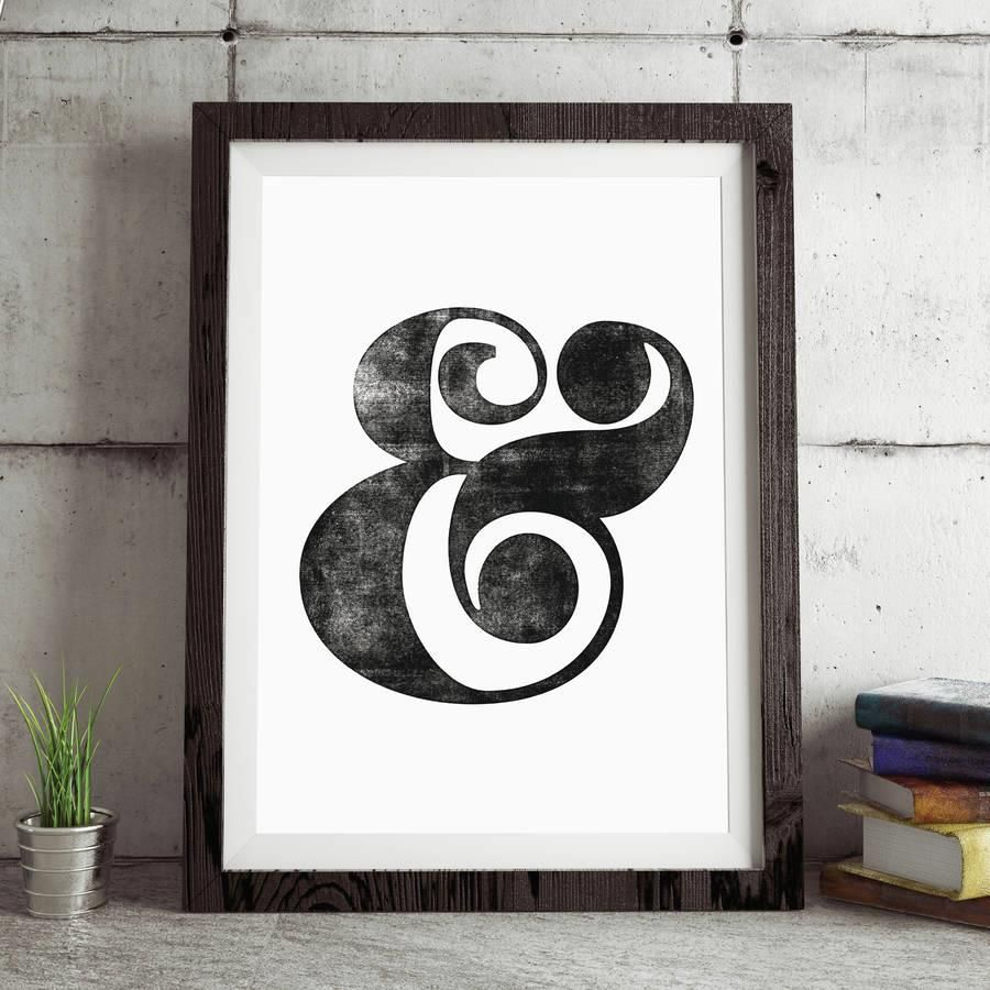 Ampersand http://www.amazon.com/dp/B016Y9DL6K word art print poster black white motivational quote inspirational words of wisdom motivationmonday Scandinavian fashionista fitness inspiration motivation typography home decor