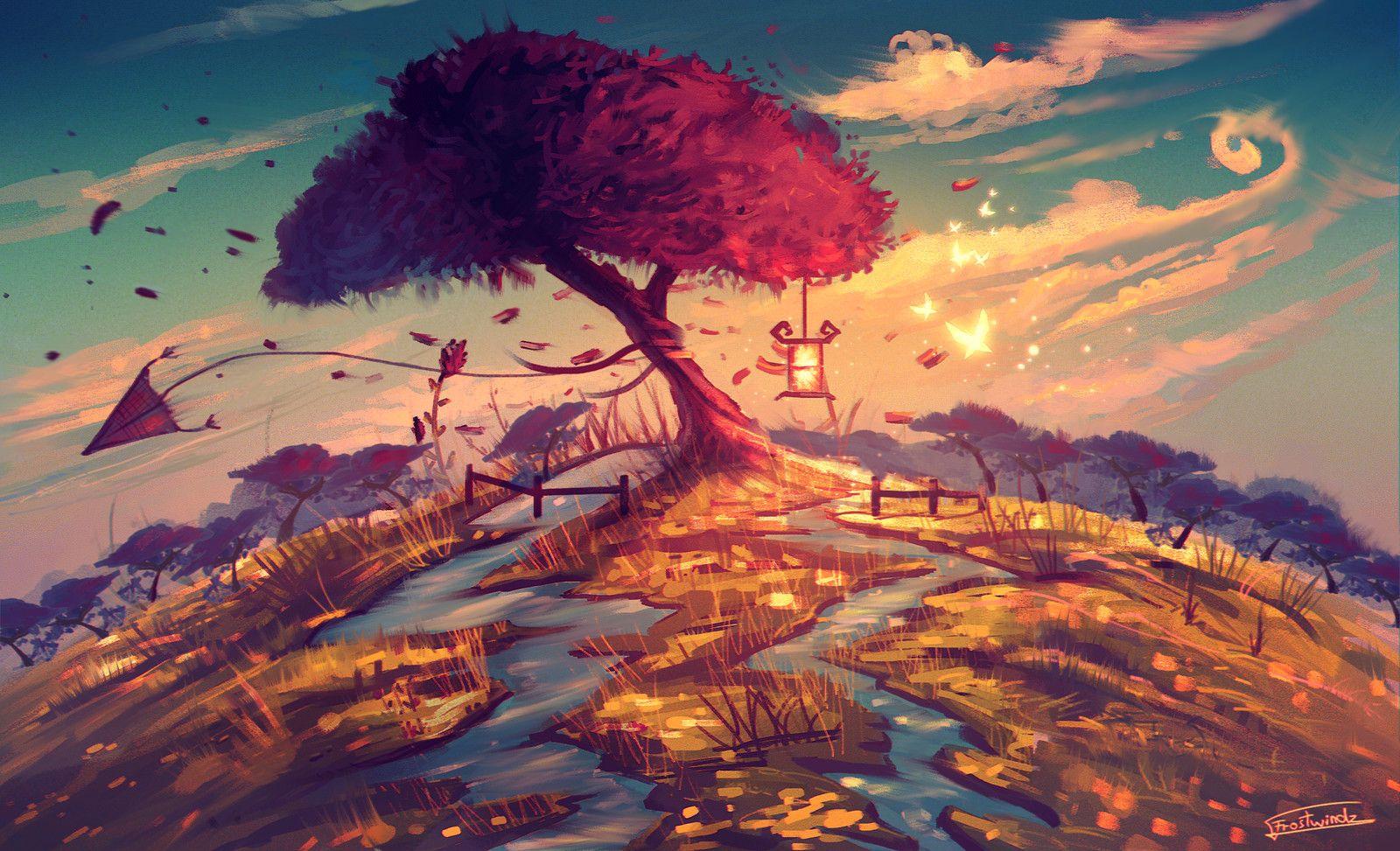 Sakura Tree, Radu Cosmin Alexandru on ArtStation at https