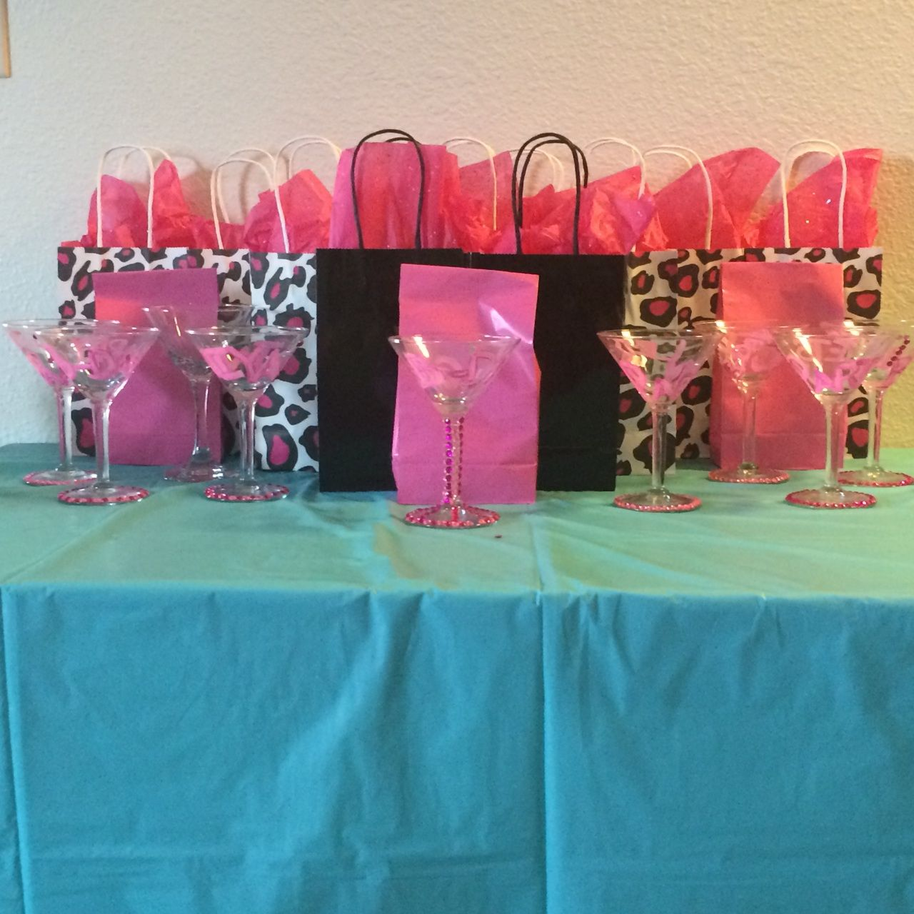 Gift bags and favors for girls birthday party