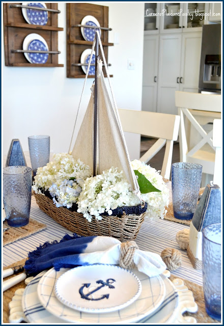 Nautical Tablescape Nautical Table Centerpieces Nautical Table Tablescapes