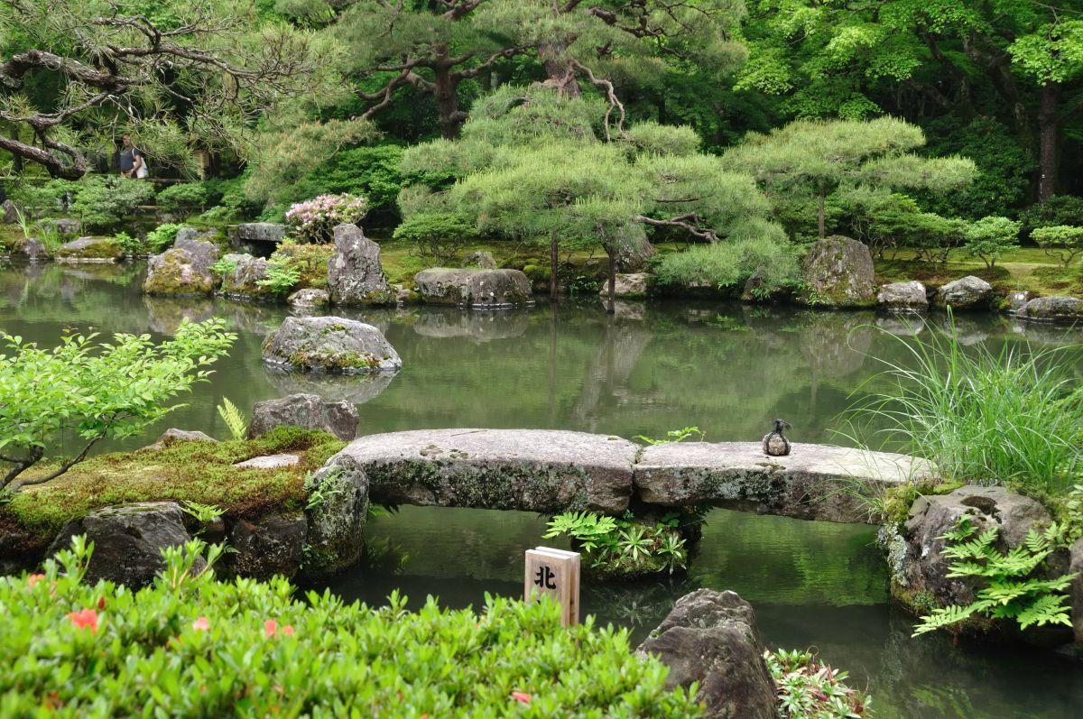 kyoto ginkakuji temple stone bridge japanese gardens bridges