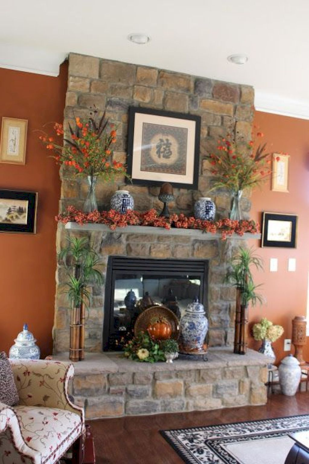 Cool 85 Awesome Fall Mantel Decor Ideas Https Homeideas Co 8745 85 Awesome Fall Mantel De Fireplace Mantle Decor Fall Fireplace Decor Fall Mantel Decorations
