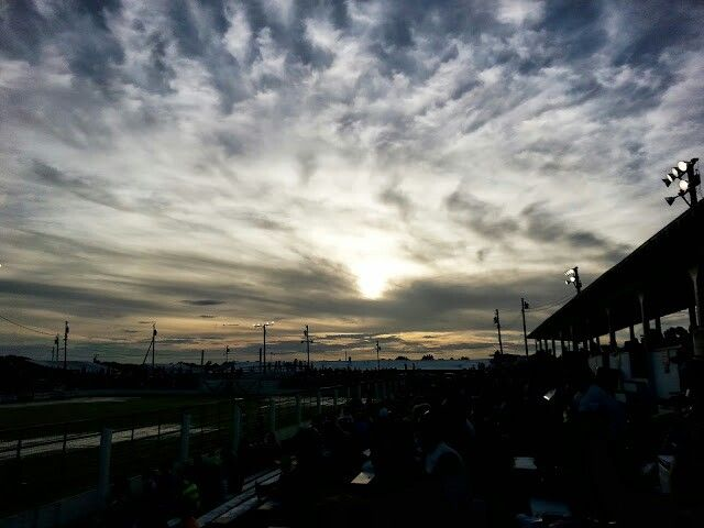 Sunset on the cowboys at Cowtown Rodeo.