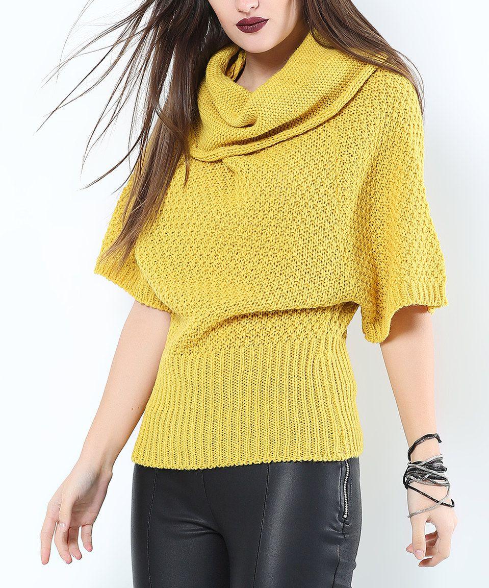 Next Trend Mustard Cowl Neck Wool-Blend Dolman Sweater | Wool ...