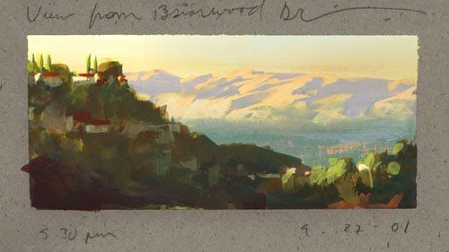 My landscape sketchbook studies from the past decade.